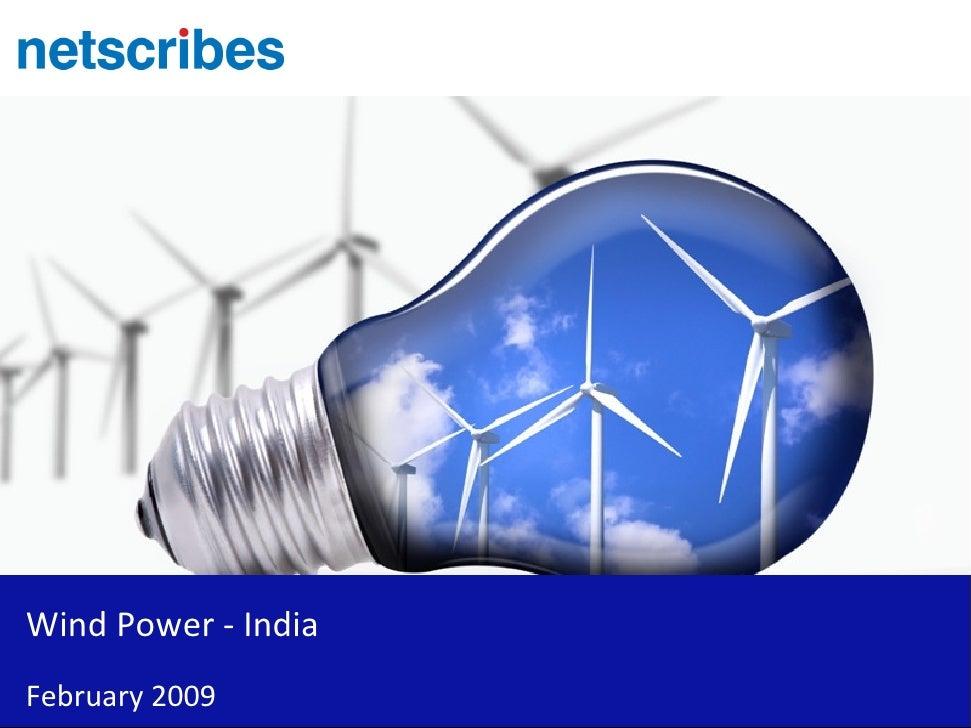 Wind Power - India February 2009