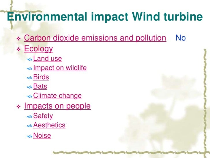 Wind Power And Environmental Impact