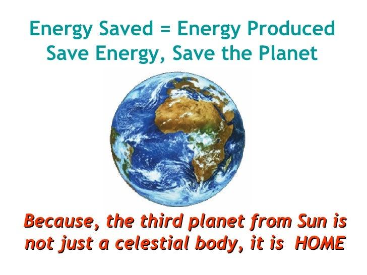 Essay on energy saved is energy produced, Homework Example - tete-de