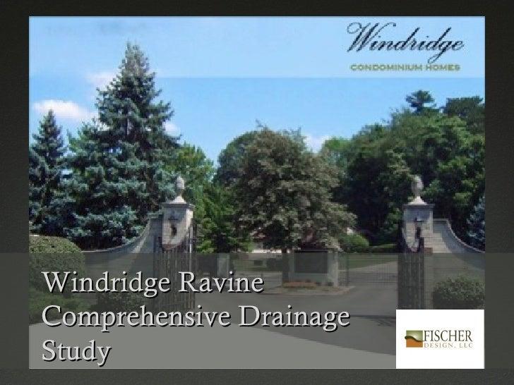 Windridge RavineComprehensive DrainageStudy