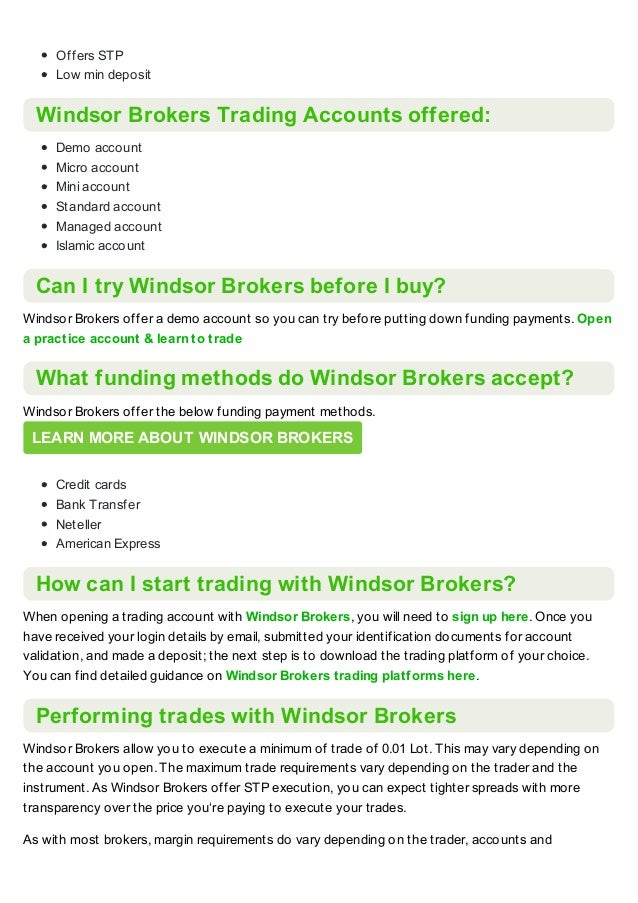 Windsor Brokers Broker Review