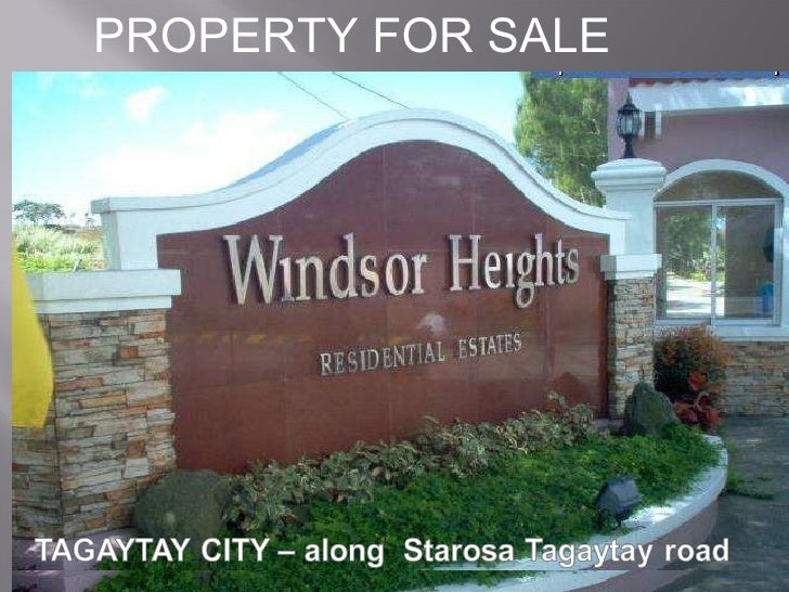 TAGAYTAY CITY  PROPERTY FOR SALE