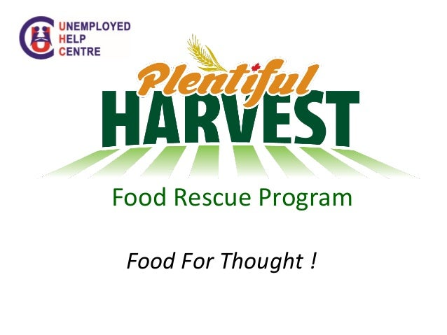 Food Rescue Program Food For Thought !
