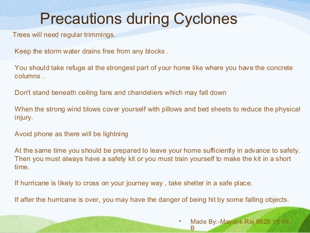 Wind Storms And Cyclones