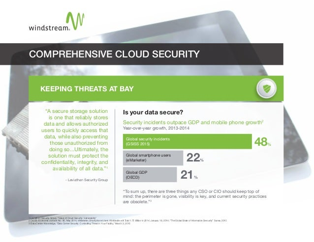 """KEEPING THREATS AT BAY """"A secure storage solution is one that reliably stores data and allows authorized users to quickly ..."""