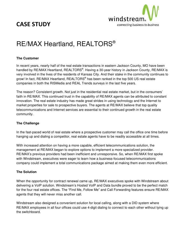 CASESTUDY                                                                                     RE/MAX Heartland, REA...