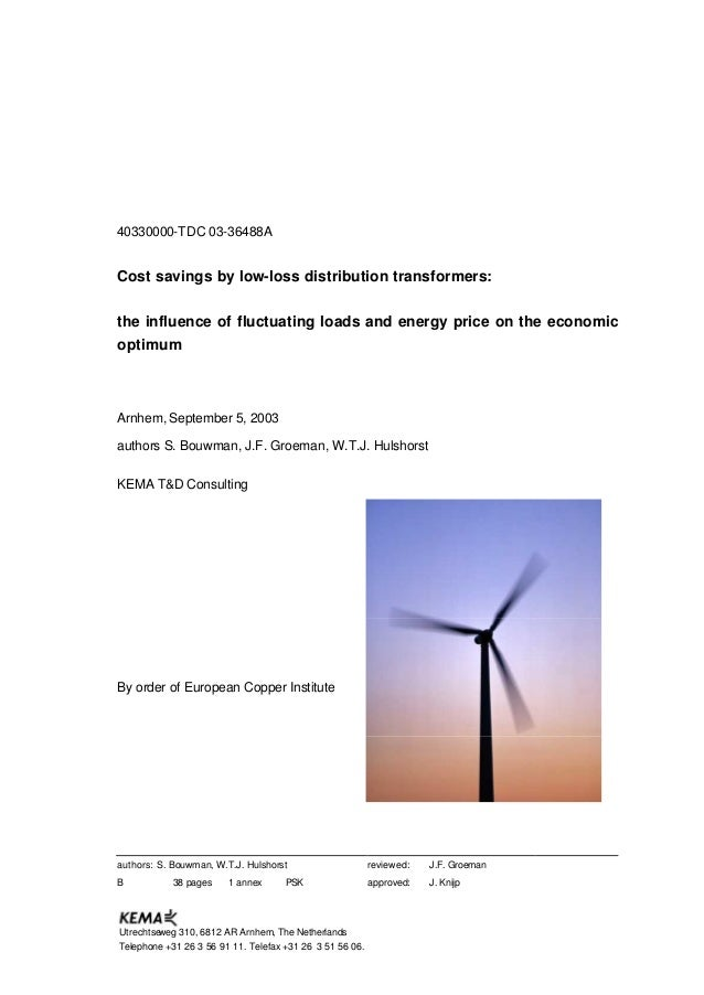 40330000-TDC 03-36488A Cost savings by low-loss distribution transformers: the influence of fluctuating loads and energy p...