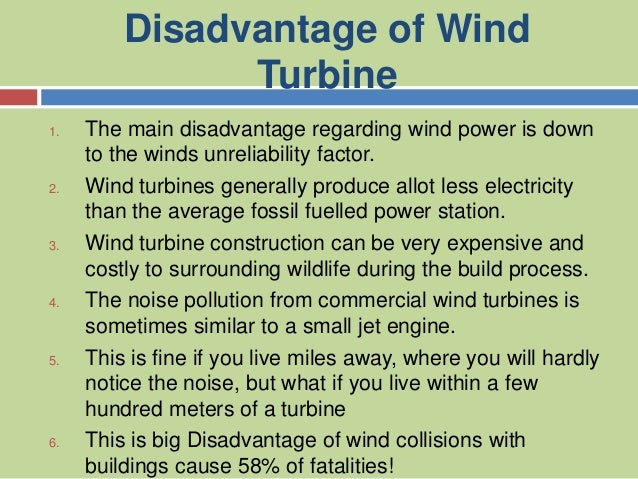 Wind turbines Power Point Presentation