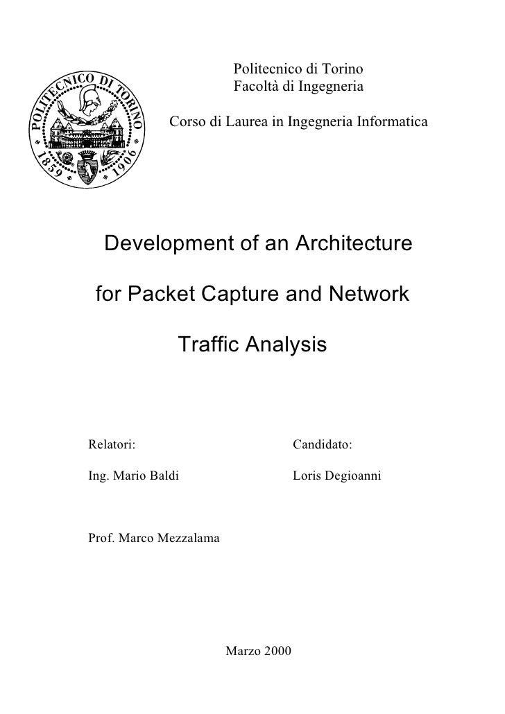 Politecnico di Torino                         Facoltà di Ingegneria              Corso di Laurea in Ingegneria Informatica...