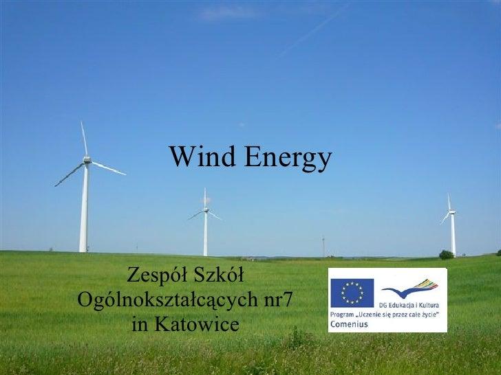 Wind Energy Zespół Szkół Ogólnokształcących nr7 in Katowice