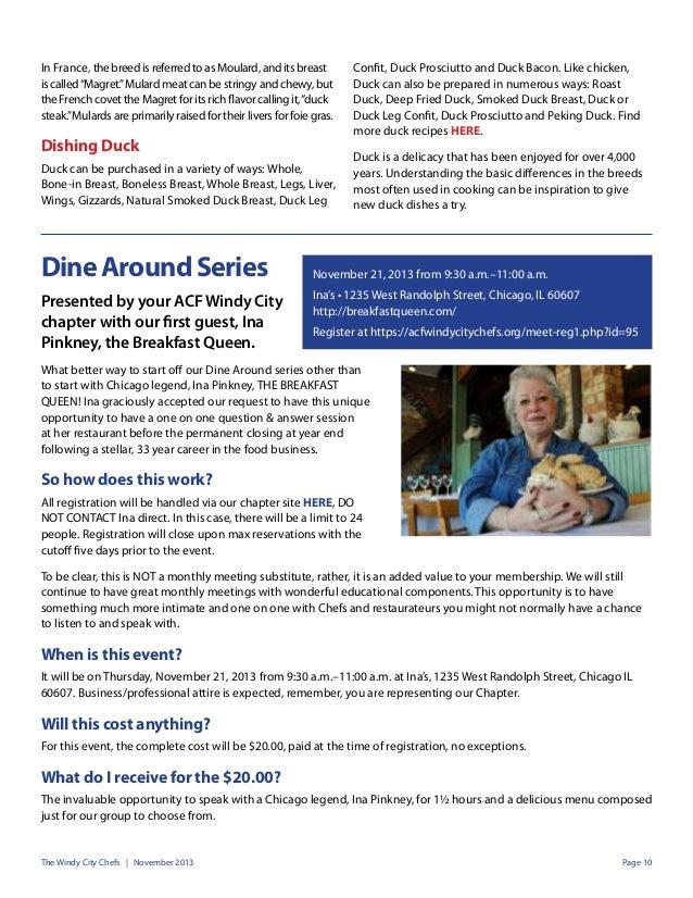 Buedel's Duck...Duck...Choose - Windy City Chefs Nov Newsletter Slide 2