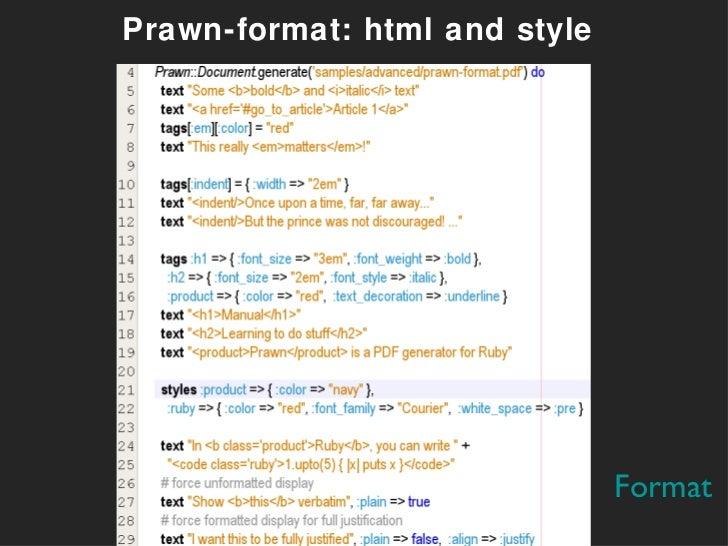 Pdf generation in rails with prawn and prawn to john mccaffrey prawn format html and style format malvernweather Images