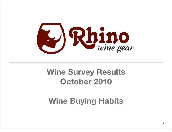 Wine Survey Results    October 2010  Wine Buying Habits                        1                            1