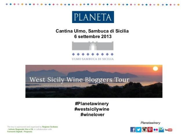 Cantina Ulmo, Sambuca di Sicilia 6 settembre 2013 #Planetawinery #westsicilywine #winelover Planetawinery