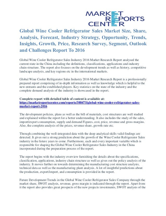 wine cooler refrigerator sales market share growth opportunity and