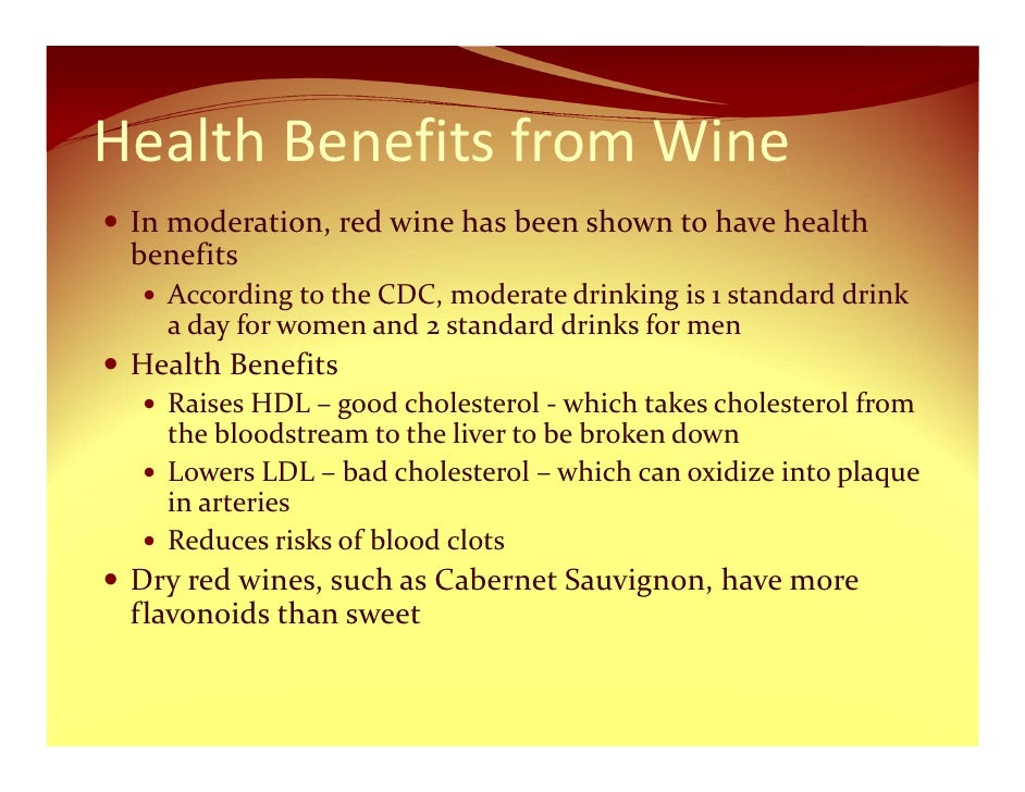 Benefits Of Drinking Sweet Red Wine