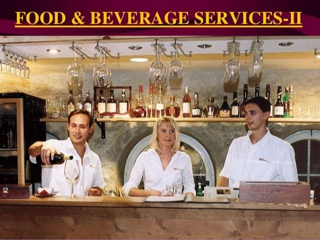food and beverage service Food and beverage service introduction the objective of food and beverage service is to provide students with an understanding of quality service as measured by the standard of the hospitality industry in today's world.