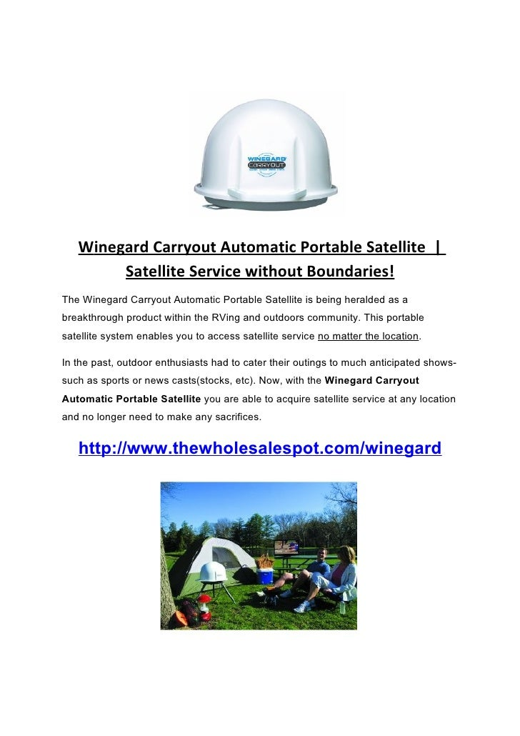 Winegard Carryout Automatic Portable Satellite |         Satellite Service without Boundaries! The Winegard Carryout Autom...