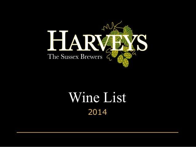 Wine List 2014