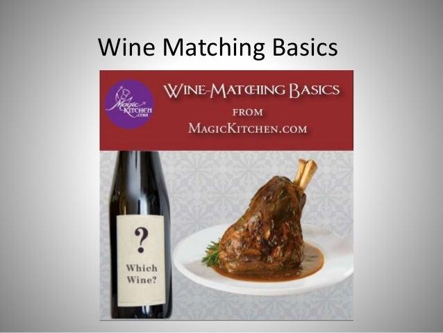 Wine Matching Basics