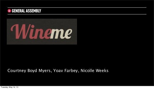 Courtney Boyd Myers, Yoav Farbey, Nicolle WeeksTuesday, May 14, 13