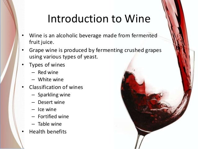 wine industry introduction Introduction the fermentation process fermentation refers to a metabolic process of energy generation that uses an organic compound as a terminal electron acceptor.