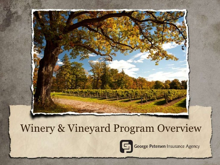 Winery & Vineyard Program Overview
