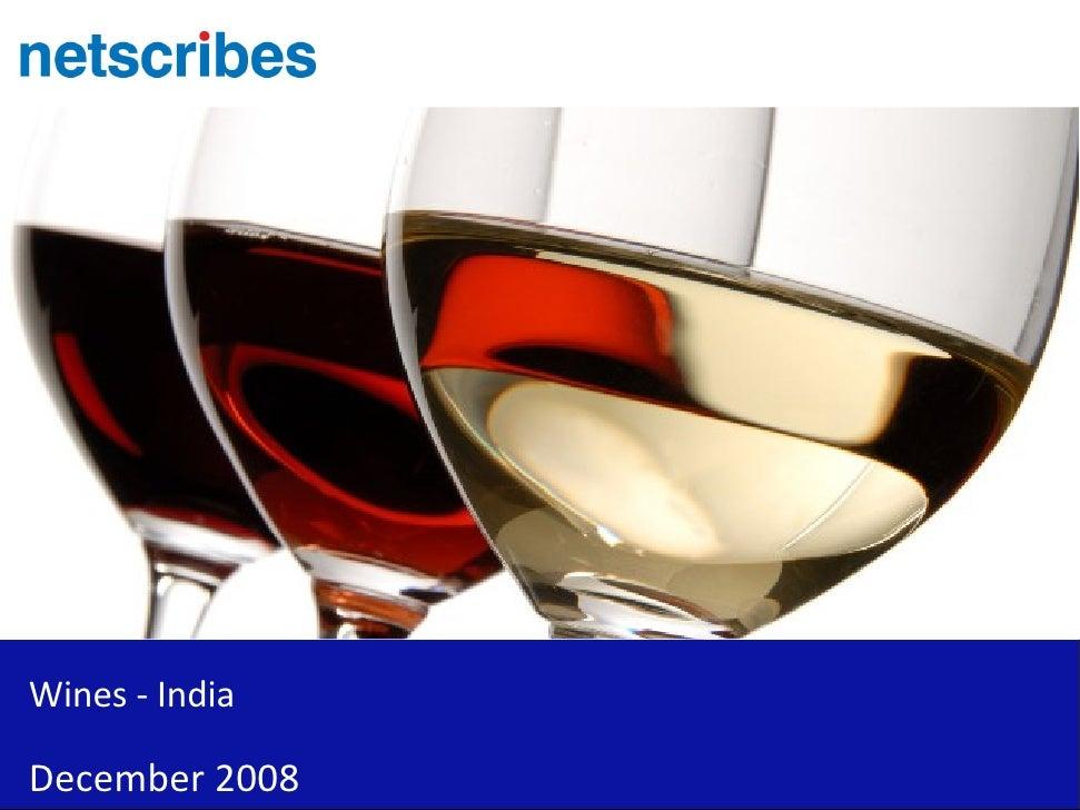 Wines - India  December 2008