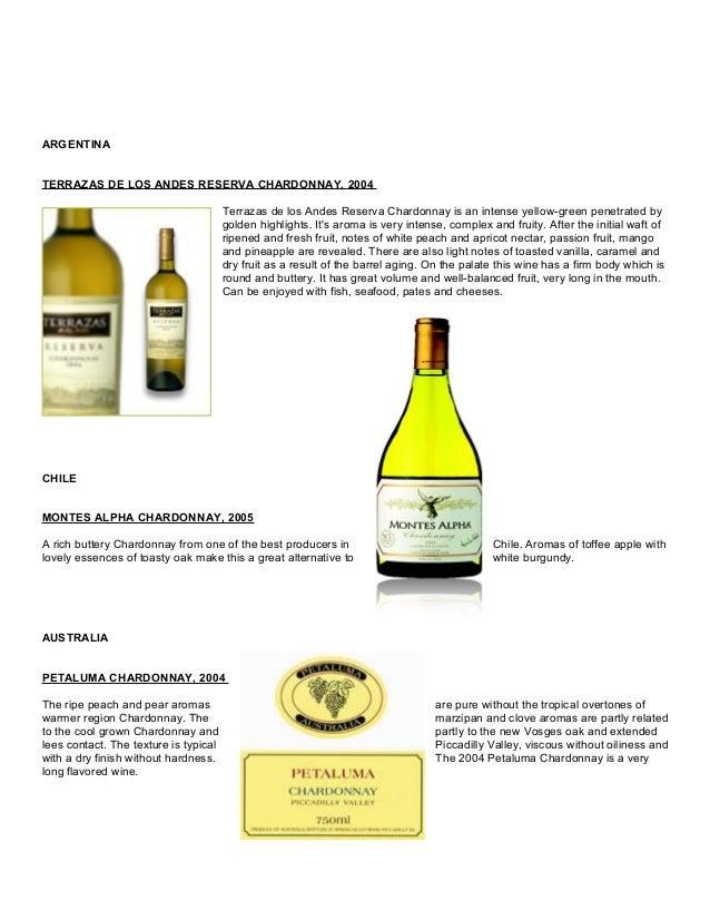 Wine Tasting Notes