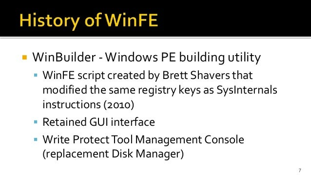 WinFE: The (Almost) Perfect Triage Tool