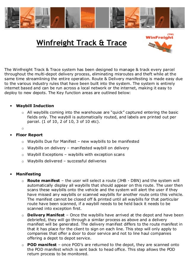 Winfreight track trace