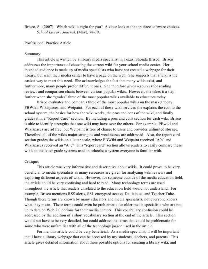 academic article summary