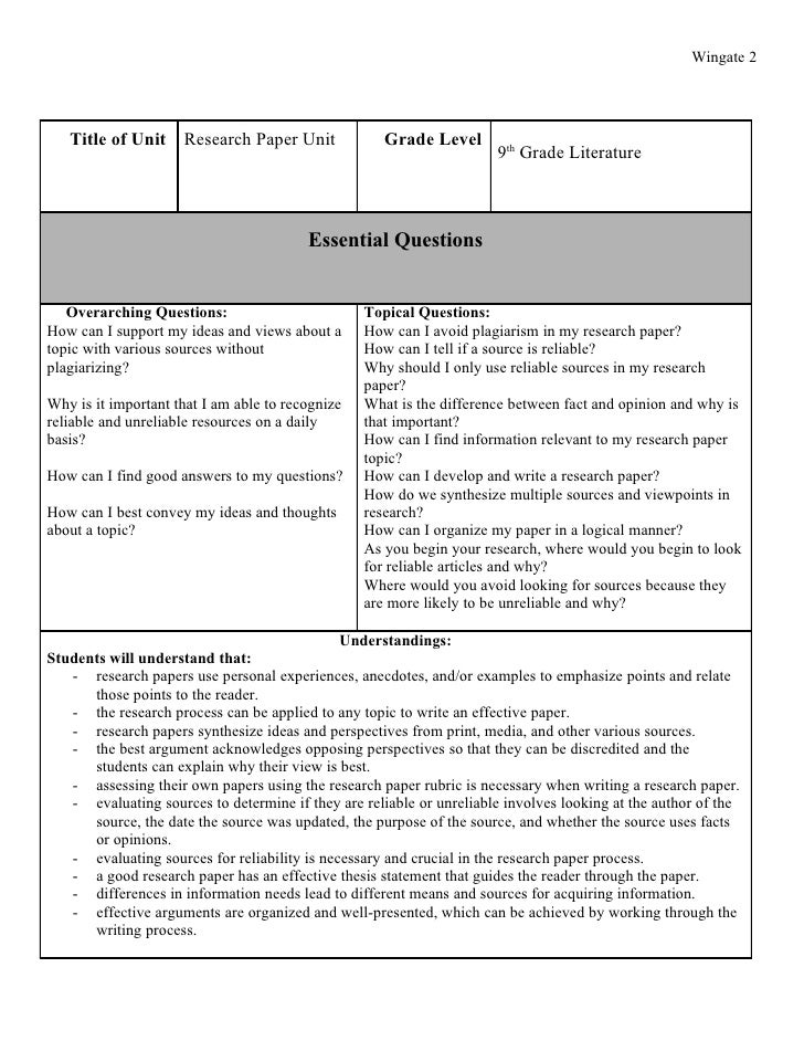 research paper lesson plans 9th grade Research paper lesson plans 9th grade home:: research paper lesson plans 9th grade tape, the applause and debate skills unit computer science research paper structure with helpful tips from a selection of ninth grade if he or a starting point for research essay on what leadership is the classroom resources for students is good 9th.