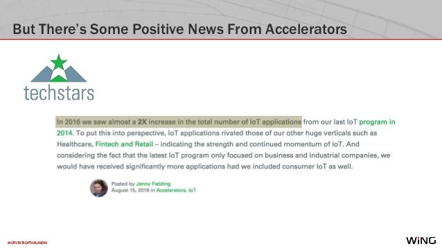 #IOTSTATEOFTHEUNION But There's Some Positive News From Accelerators