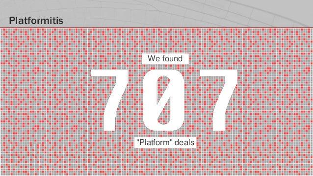 "#IOTSTATEOFTHEUNION Platformitis ""Platform"" deals We found"