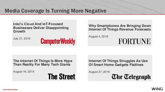 #IOTSTATEOFTHEUNION Media Coverage Is Turning More Negative Internet Of Things Struggles As Use Of Smart Home Gadgets Flat...