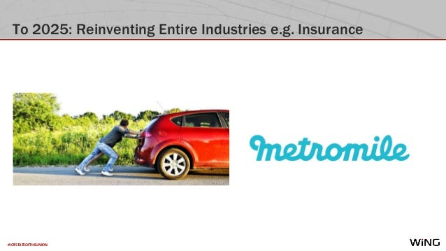 #IOTSTATEOFTHEUNION To 2025: Reinventing Entire Industries e.g. Insurance