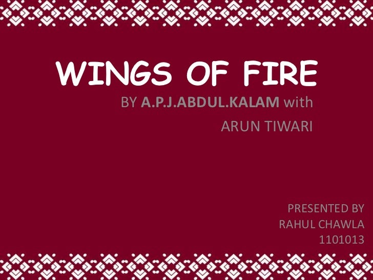 wings of fire book review and summary Book review- wings of fire  this book tells us the story of a muslim boy, who became the president of a hindu dominated country by hard world and dedication.