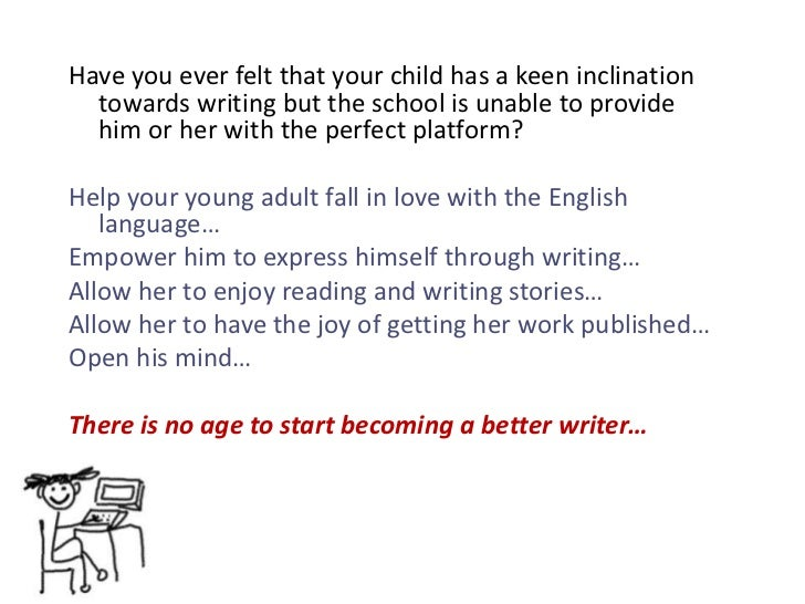 writing for young adults Join the discussion as faculty, students, and graduates of hamline university's  mfa in writing for children & young adults program talk about the program,.