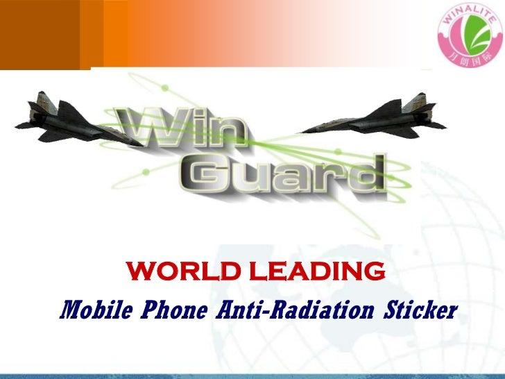 WORLD LEADINGMobile Phone Anti-Radiation Sticker