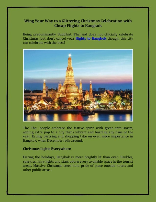 wing your way to a glittering christmas celebration with cheap flights to bangkok being predominantly buddhist