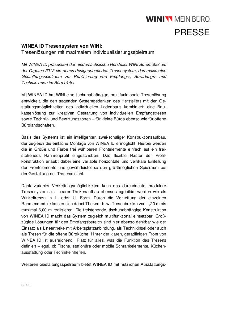 PRESSEWINEA ID Tresensystem von WINI:Tresenlösungen mit maximalem IndividualisierungsspielraumMit WINEA ID präsentiert der...