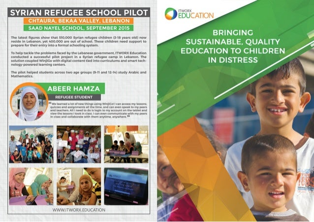 ITWORX EDUCATION Bringing Sustainable, Quality Education to Children in Distress
