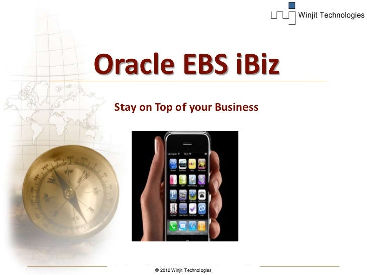 Oracle EBS iBiz Stay on Top of your Business        © 2012 Winjit Technologies