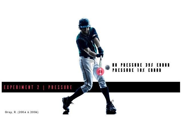 Experiment 2 | Pressure Gray, R. (2004 & 2006) No Pressure 39% Error Pressure 18% Error