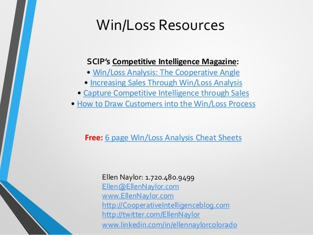 win loss analysis How to increase sales through win/loss analysis.