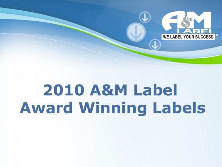 Powerpoint Templates 2010 A&M Label  Award Winning Labels
