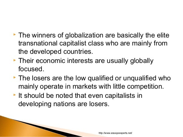 winners and losers of globalization essay Enjoy proficient essay writing and winners and losers of globalisation essay writing services provided by professional academic writers we value excellent academic writing and strive to provide outstanding essay writing.
