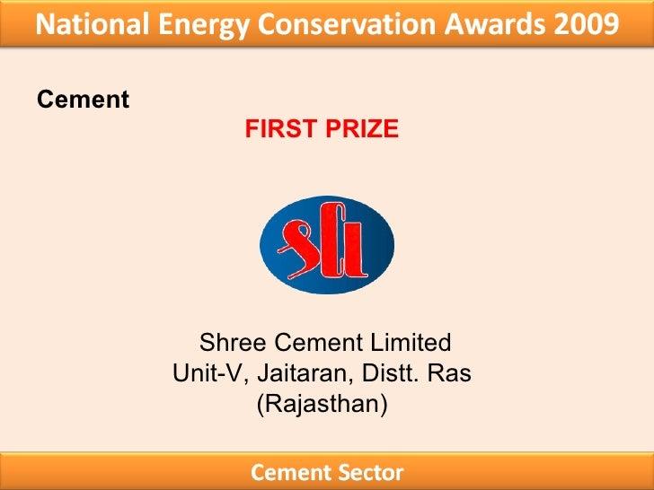 Shree Cement Limited : Winners award