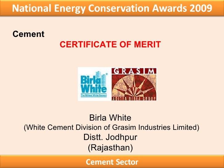 Birla White Cement : Winners award